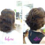 クセ毛や天パをいかしたミディアムヘアーにスタイルチェンジ