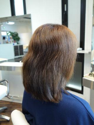 ブログからのご新規さまは白髪をハナヘナの2回染めで