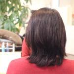 耳後ろの髪が伸びてくると重くて膨らむんです
